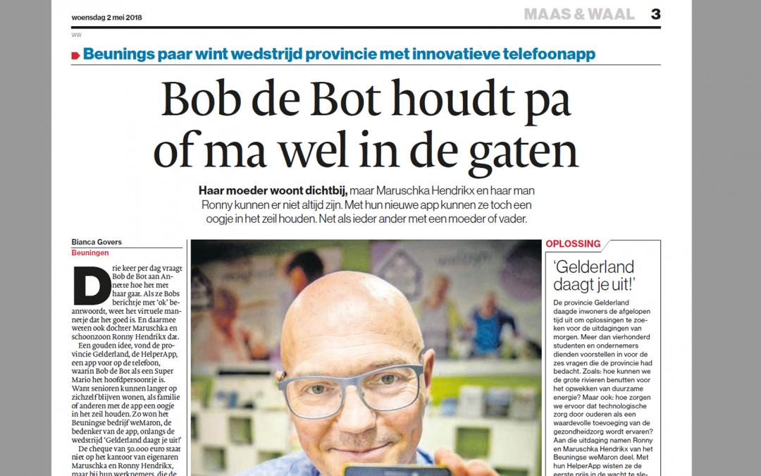 Gelderlander: Bob de Bot houdt paof ma wel in de gaten